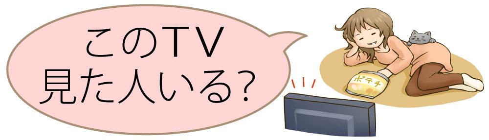 このTV見た人いる?